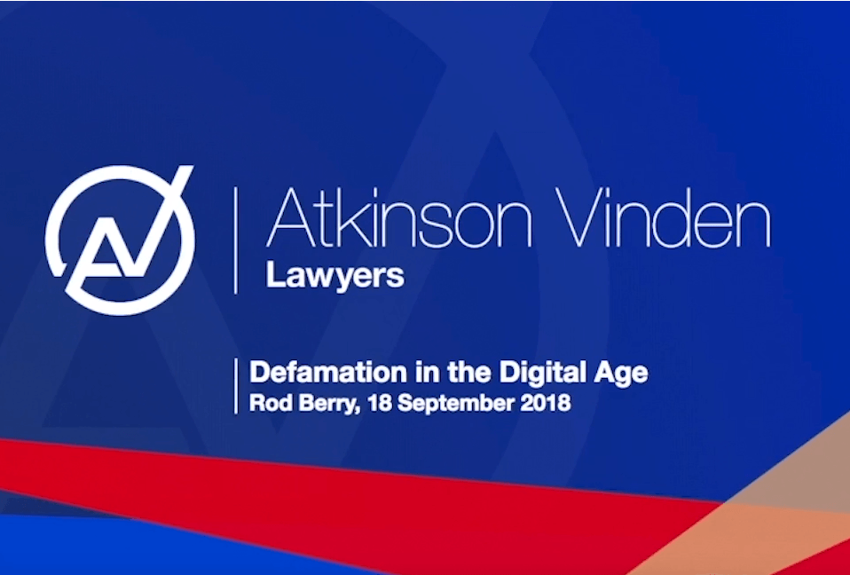 Introduction to defamation